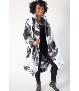 Moyuru Abstract Coat