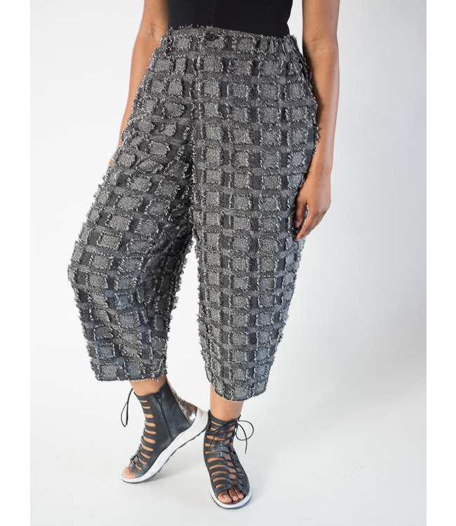 Moyuru Frayed Patchwork Pant