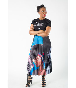 WHY Pleated Long Skirt