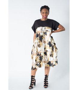 WHY Vintage Printed Dress