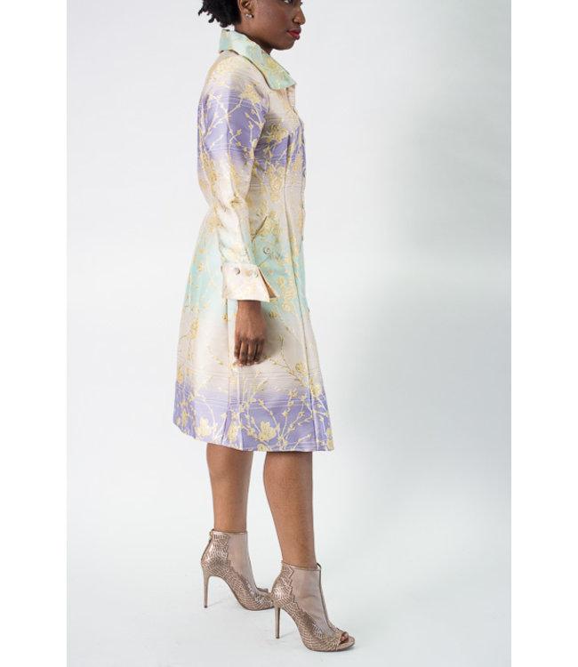 Samuel Dong Brocade Dress