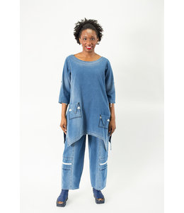 KEKOO Denim Tunic