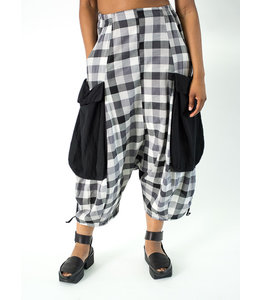 KEKOO Checkered Harem Pants