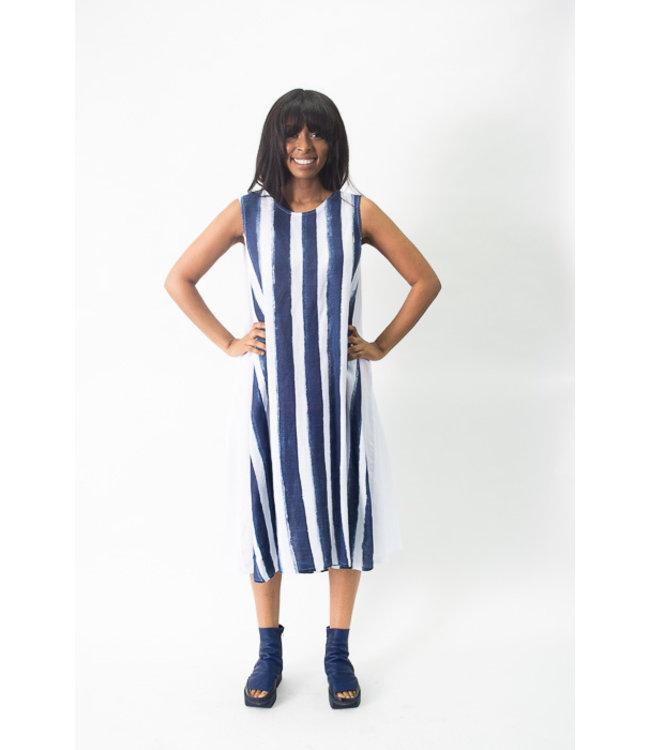 Banana Blue Stripe Linen Dress