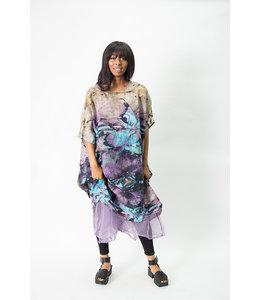 Krista Larson Eco Print Teal Dress