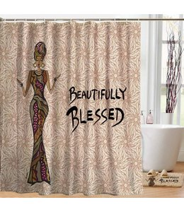 Shades of Color Designer Shower Curtain
