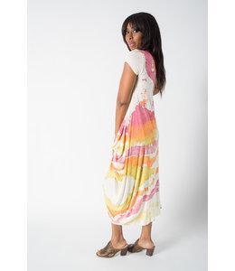 Short Sleeve Watercolor Dress