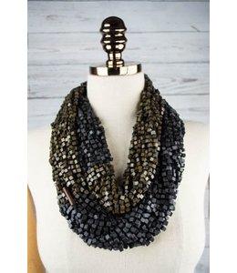 Jianhui London Fishnet Necklace Black & Olive