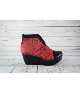 Mango Tribal Wedge Bootie