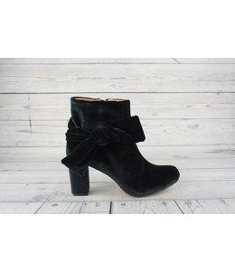 All Black Velvet Madame Ankle Boot