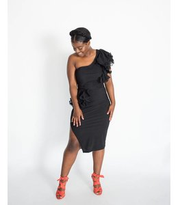 CQ Ruffled One-Shoulder Dress