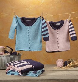 Yarn TALLY HO BABY PULLOVER KIT<br /> INDIGO/BLUSH