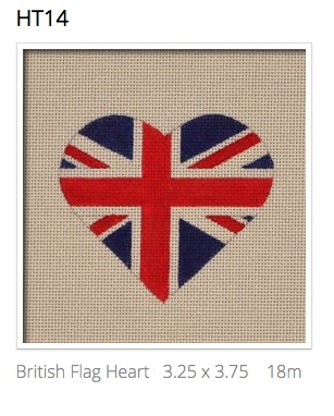 Canvas BRITISH FLAG HEART  HT14