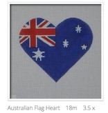 Canvas AUSTRALIAN FLAG HEART  HT21