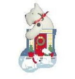 Canvas FRONT DOOR WESTIE STUFFER  CM576