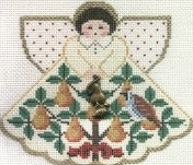 Canvas 12 ANGELS 0F XMAS - PARTRIDGE IN PEAR TREE  PP996CA