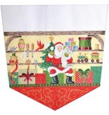 Canvas SANTAS LIST STOCKING TOPPER  KB1225
