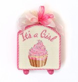 Canvas IT'S A BOY CUPCAKE STAND-UP  KB1201