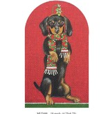 Canvas CHRISTMAS DOXIE  MLT488
