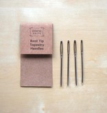 Accessories BENT TIP TAPESTRY NEEDLES<br /> 4 PAK  COCOKNITS