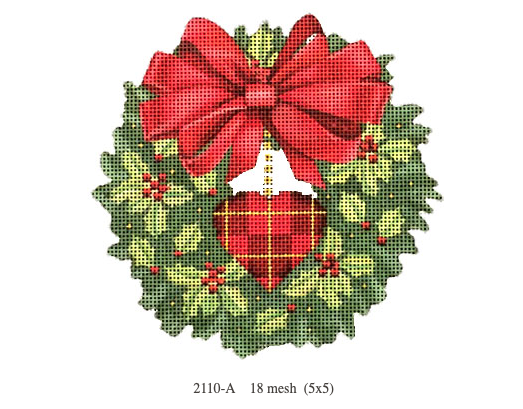 Canvas HOLLY WREATH  2110A