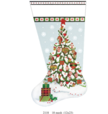 Canvas CHRISTMAS HEART STOCKING  2118