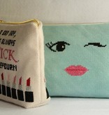 Canvas POUR YOURSELF A DRINK COSMETICS BAG  MB08