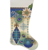 Canvas PEACOCK STOCKING  2654