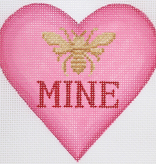 Canvas BEE MINE HEART  OM256