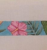 Canvas PINK HIBISCUS BELT  b134