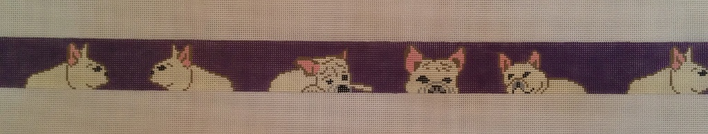 Canvas FRENCH BULLDOGS BELT J5010