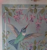 Canvas HUMMINGBIRD WITH FUSCHIA  1759