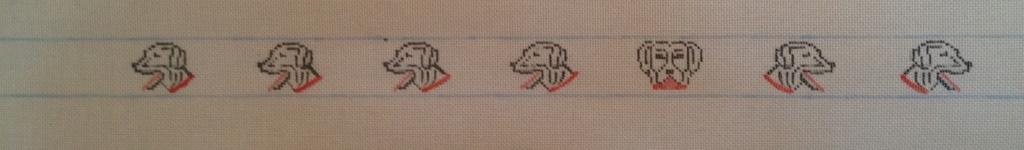 Canvas DOG HEADS BELT B75A