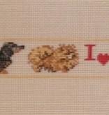 Canvas I LOVE DOGS BELT  B13