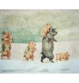 Canvas PIGS ON PARADE JBDC418