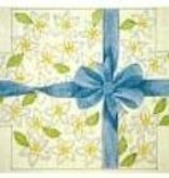 Canvas BOW AND FLOWERS BRICK COVER  641B