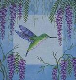 Canvas HUMMINGBIRD AND WISTERIA  B045