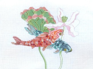 Canvas KOI AND LOTUS  187035