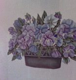 Canvas PANSY POT  383