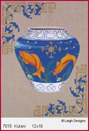 Canvas KUTANI GOLDFISH ON URN  7015