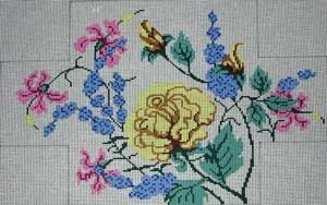 Canvas ROSES BRICK COVER  1092