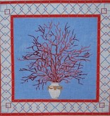 Canvas CORAL IN VASE  P199B