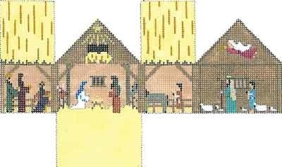 Canvas NATIVITY MINI HOUSE  5501-13