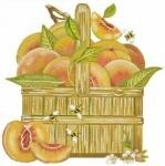 Canvas Peach Basket  MLT199<br />