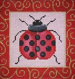 Canvas LADYBUG WITH SWIRLS  B052