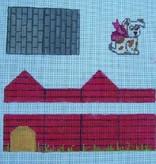 Canvas DOG HOUSE 3-D BOX