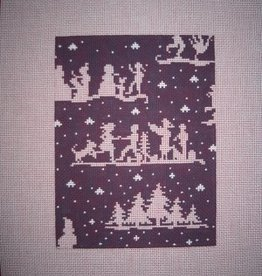 Canvas WINTER SILHOUETTES XMAS CRACKER  CR06