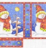 Canvas SNOWMAN SHOPPING BAG ACOD2122