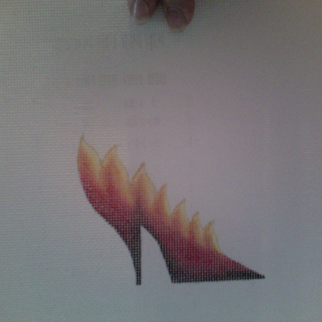 Canvas SALE  -  RING OF FIRE SHOE  1970<br /> REG $38