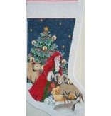 Canvas HOODED SANTA WITH ANIMALS  MC1975